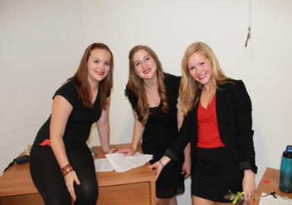 (From left) students Lauren Lansdale, Kathleen Quinn, and Jessica Kuh (all LUC).jpg