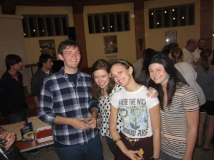 (from left) Matt Gilliland, Lauren Alexander, Chloe Verhoef, and Katie Donabedian (all LUC).JPG